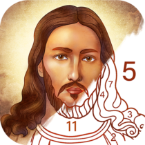 Bible Coloring Paint by Number, Free Bible Games  2.22.0 APK MOD