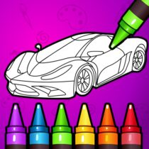 Learn Coloring & Drawing Car Games for Kids  9.0 APK MOD