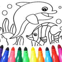 Dolphin and fish coloring book 15.9.6 APK MOD