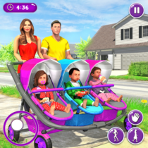 New Mother Baby Triplets Family Simulator 1.1.9 APK MOD